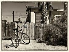 BICYCLE OLD FENCE HOUSE PHOTO ART PRINT POSTER PICTURE BMP1498A