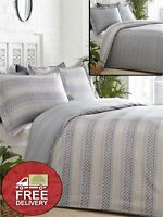 Grey Duvet Cover Quilt Cover Bedding Bed Set 300 Thread Count Luxury NEW