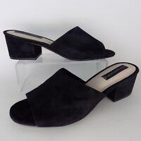 Steven By Steve Madden Farren Black Suede Women Sandals Size 10 M AL4562