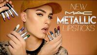 New Authentic MAC Metallic Lipstick ~ CHOOSE SHADE ~ NIB