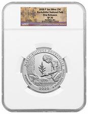 2020 P Marsh Billings Rockefeller 5 oz Silver ATB Specimen NGC SP70 FR PRESALE