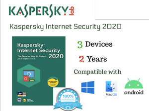Kaspersky Internet Security 2021 3 Devices 2 Years Win iOS Mac Android AU Seller