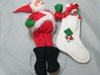 Vintage 1980 Mobilitee Annalee Christmas Doll Santa Claus Stocking Poseable 8""