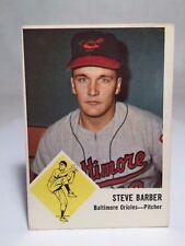 1963 Fleer #1 Steve Barber Card Baltimore Orioles