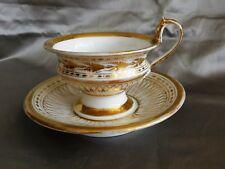 Biedermeier Tasse mit Unterteller Porzellan