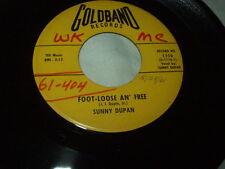 SUNNY DUPAN Foot-Loose An' Free/La Ville de Mamou 45 Louisiana Cajun R&B Orleans