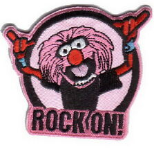 Rock On Pink Lion Punk Emo Embroidered Iron on Patch