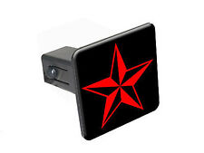 "Nautical Star - Red - 1 1/4 inch 1.25"" Trailer Hitch Cover Plug Insert"