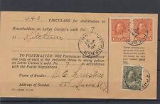 HOUSEHOLDER receipt ADMIRAL 2x$1.00+20c nice  dated 1927 Circular Canada