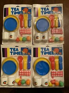 Lot 4 New Tea Time Play Food Lot Party  Skillet Tea Fruit Plates Cups More!