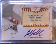 ADAM HALL 2016 LEAF Perfect Game AUTHENTIC GAME USED BALL AUTO SSP ORIOLES 2/2