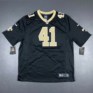 100% Authentic New Orleans Saints Alvin Kamara Nike Black Game Player Jersey 2XL