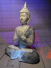 BUDDHA ORNAMENT SITTING THAI BUDDHA  ORNAMENT WHITE ORIENTAL antique DECORATION