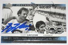 GUY LAFLEUR SIGNED 17-18 UPPER DECK CENTENNIAL STANDOUTS CANADIENS CARD AUTO!!
