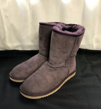 Authentic Women's Ugg Purple Suede Sheepskin Classic Short II Boots Size W6