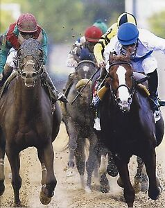 SHACKLEFORD 8X10 PHOTO HORSE RACING PICTURE JOCKEY WINS PREAKNESS STAKES