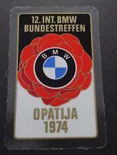 BMW Bundestreffen OPATIJA 1974 Oldtimer Windows Sticker Aufkleber Plakette 12