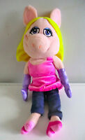 DISNEY STORE MUPPET SHOW MISS PIGGY SOFT PLUSH PART-BEANIE TOY - 17 INCHES HIGH