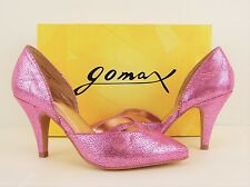 NIB Gomax Metallic Pink Faux Leather Pointed Toe High Heels Pumps 5.5 M (S165)