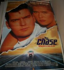 1994 The CHASE 1 SHEET MOVIE POSTER 2 SIDED CHARLIE SHEEN KRISTY SWANSON ACTION