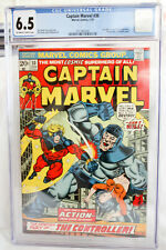 CAPTAIN MARVEL  #30  CGC 6.5 0.W/W (MARVEL1968) THANOS.  #004