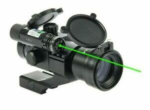Hiram 1X30 Green Red Dot Laser Scope Rifle Sight PEPR Mount