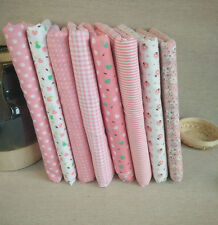 1Set Stoff Patchworkstoffe Stoffreste Stoffpaket Baumwolle Rosa Stoffe 50x50cm
