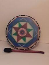 More details for shamanic drum,medium,painted,pagan
