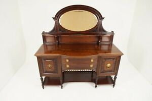 Antique Victorian Sideboard, Mahogany, Mirror Back, Buffet, Scotland 1890, B1932