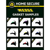 Wedge Gasket - Rubber Door And Window Wedge Seal Black uPVC Gasket Sample Pack