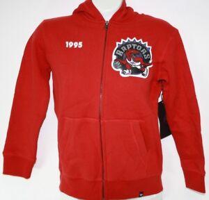 NEW Womens NBA Toronto Raptors '47 Brand Red Basketball Full Zip Hoodie Jacket