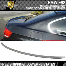 07-13 BMW E92 M3 Style #A22 Sparkling Graphite Metallic Painted Trunk Spoiler