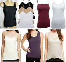 Ex M&S Ladies Stretchy Cami/Camisole/Vest Top Secret Support Designs available