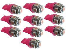 10x ampoule T10 W5W 12V 5LED SMD rose veilleuses éclairage intérieur coffre