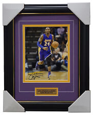 Kobe Bryant Signed Los Angeles Lakers Photo Collage Framed - NBA Champions