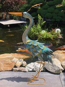 Fischreiher, Reiherschreck, Gartendekoration mit Wow- Effekt
