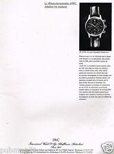 Publicité advertising 1990 La Montre IWC Le Fliegerchronograph