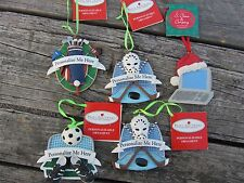 5 Lot Sport Ornaments - Hockey, Soccer, Golf and a Computer with Santa Hat