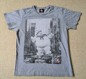 Men's New Look Short Sleeved 'Ghostbusters' T-shirt (Grey / Small)