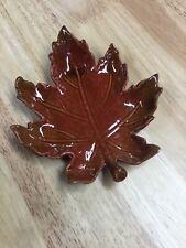 Ceramic  Leaf Dish In Red