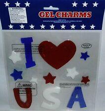 Patriotic Window Gels I LOVE USA