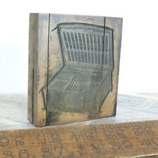 Antique Wooden Printing Blocks / letter press from Sheffield 9