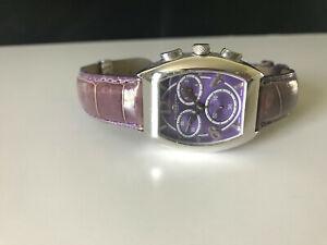 Ladies Van Der Bauwede Magnum XS Cal 65 Chronograph Silver Alligator Watch