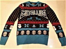 NWOT Metallica Mens Small Christmas Sweater Skulls Mistletoe Snowmen Philcos