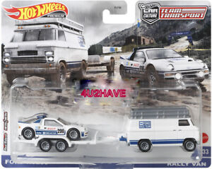 HOT WHEELS 2021 TEAM TRANSPORT CASE M FORD RS rally van (PRE-ORDER)