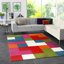 Teppich Dicht Gewebt Multicolor Geometrisch Abstrakt Weich Hochwertig