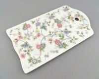 Andrea by Sadek Trivet & Cheese Cutting Board CORONA Floral Porcelain Glass EUC