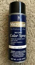 New Meltonian Nu-Life Color Spray permanently renew Leather Vinyl Black 12 oz