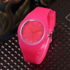 Montre CMK Quartz Sport Bracelet Silicone Femme Homme Enfant Rose