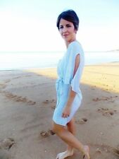 Viscose Shirt Dresses for Women with Smocked